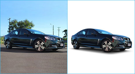 Applied shadow creation technique in Photoshop to add white bg with shadow sample image for luxury auto cars done by- Clipping Path Product.