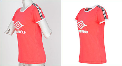Clipping Path Product online photo editor or photo ghost mannequin sample image for sports jersey editor company.