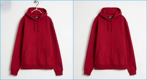 Photo retouch dusts and sketches removal photo retouching sample image for Man's hoodies by clipping path product.