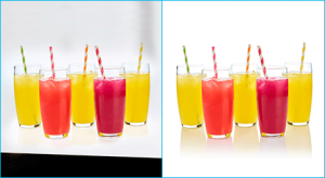 Example of reflection shadow on image for summer cocktail done by-Clipping Path Product team.