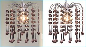 Super complex clipping path aplied on chandelier photo created by- Clipping Path Product.