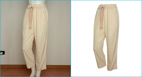 Clipping Path applied on woman pant image created by- Clipping Path Product.
